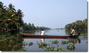 En los Backwaters de Kerala