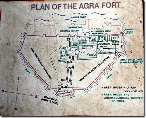 Plano del Fuerte de Agra