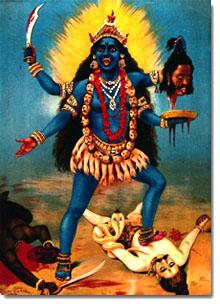 Diosa Kali en dioses de India