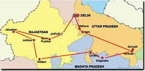 Itinerario 1 de viaje por India – Un mes – Norte de India