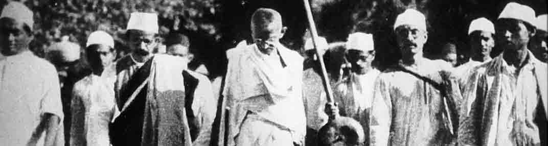 Satyagraha, resistencia sin violencia de Gandhi