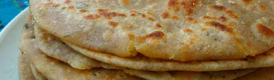 Paratha – Pan indio en gastronomía con Viaje por India