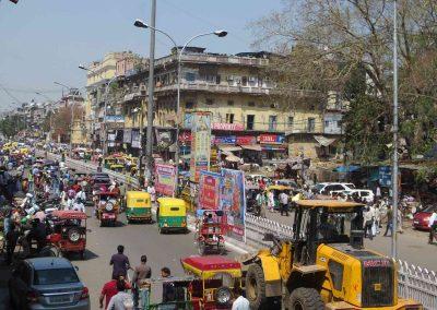 Tráfico en Delhi