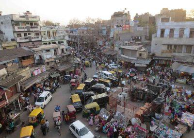 Puestos y coches en Paharganj - Delhi