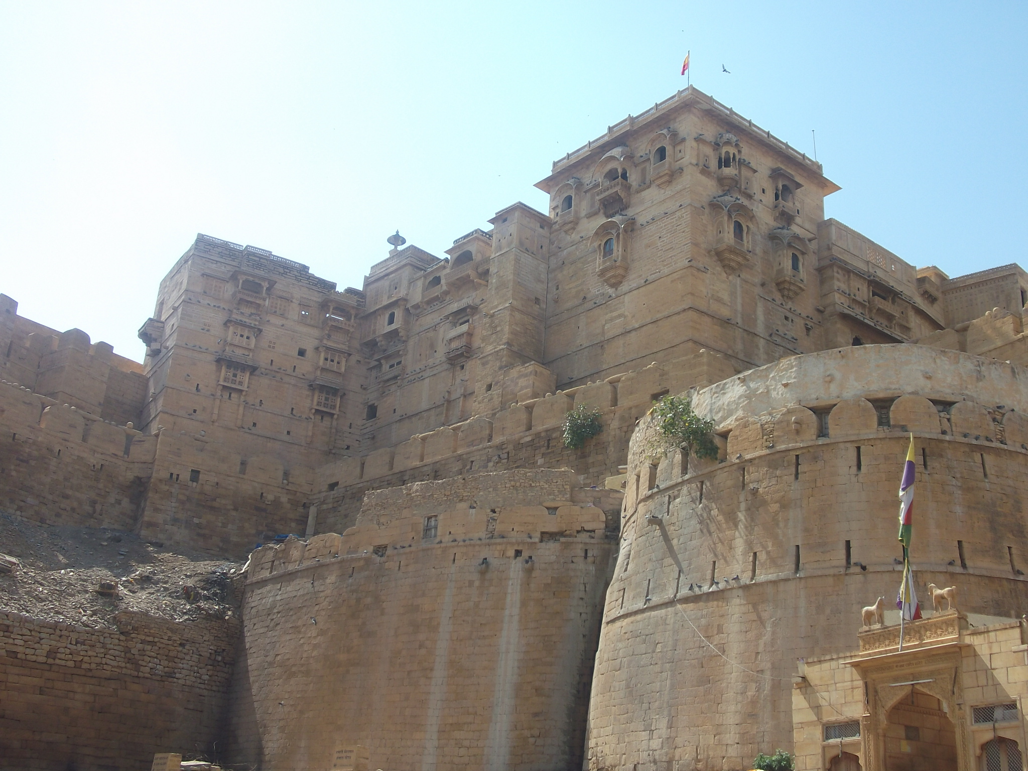 Casas sobre la muralla de Jaisalmer