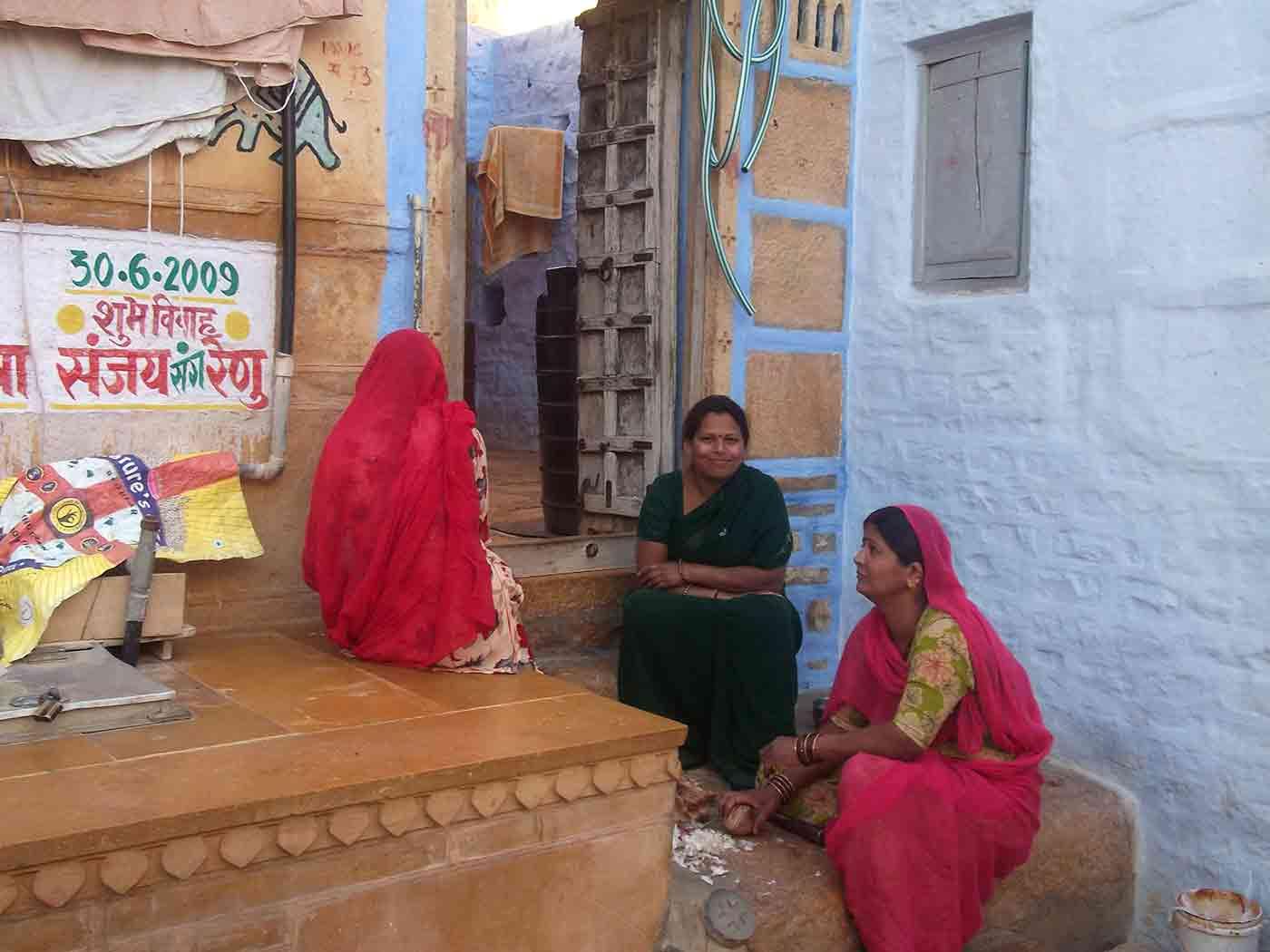 Mujeres dentro del Fuerte de Jaisalmer