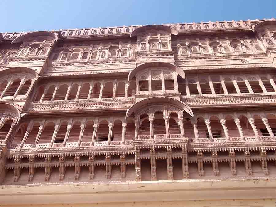 Balcones en el Fuerte Mehrangarh