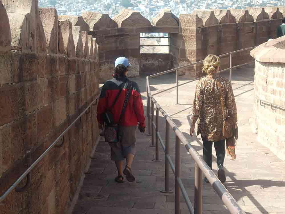 Paseando dentro del Fuerte Mehrangarh