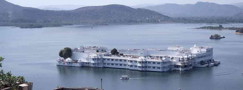 Palacio en el lago de Udaipur