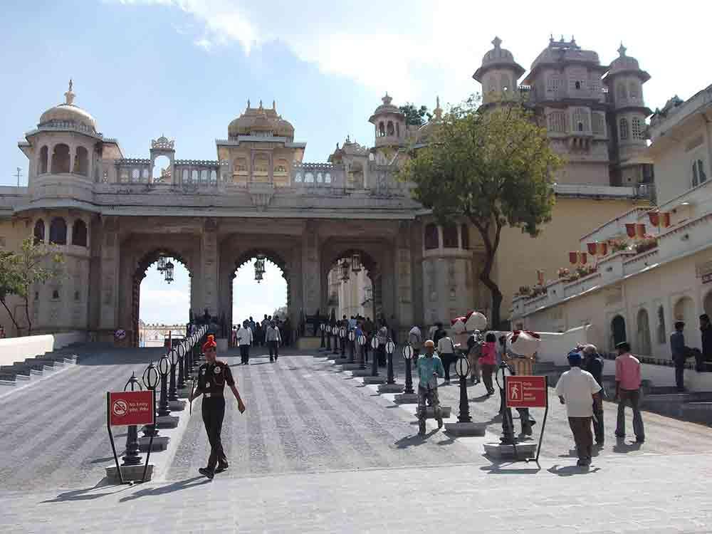 Entrada del Palacio de Udaipur