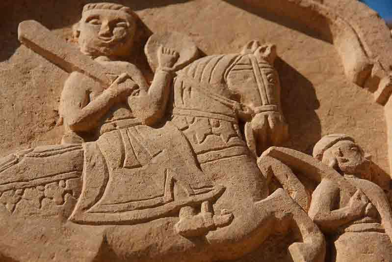 Escultura detalle en Bada Bagh