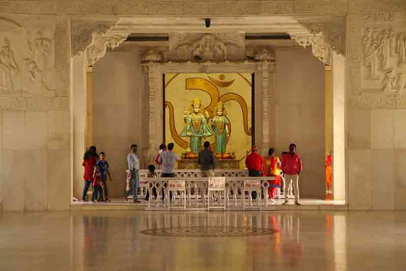 Interior Birla Mandir de Jaipur