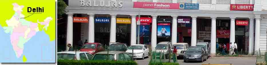 Connaught Place en Delhi con Viaje por India