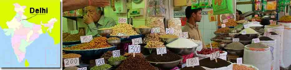Mercado de Especias de Delhi con Viaje por India