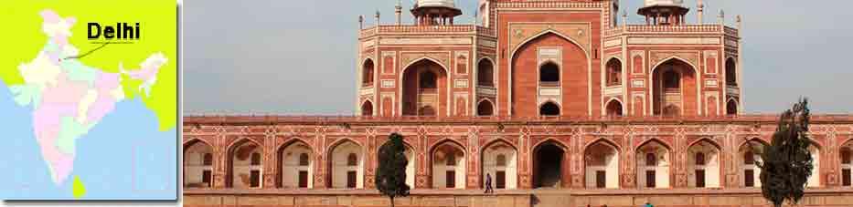Tumba de Humayun de Delhi en Viaje por India