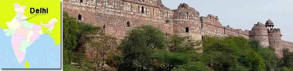 Purana Qila en Delhi, antigua fortaleza