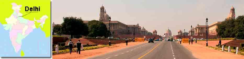 Rajpath en Nueva Delhi, Viaje por India