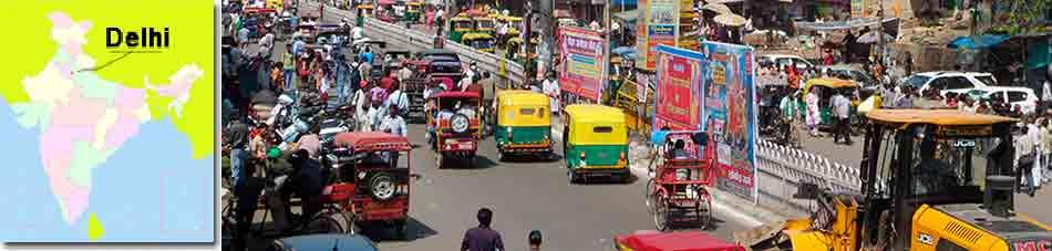 Delhi y mapa