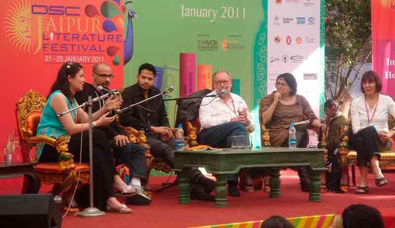 Escenario en Festival Literario de Jaipur