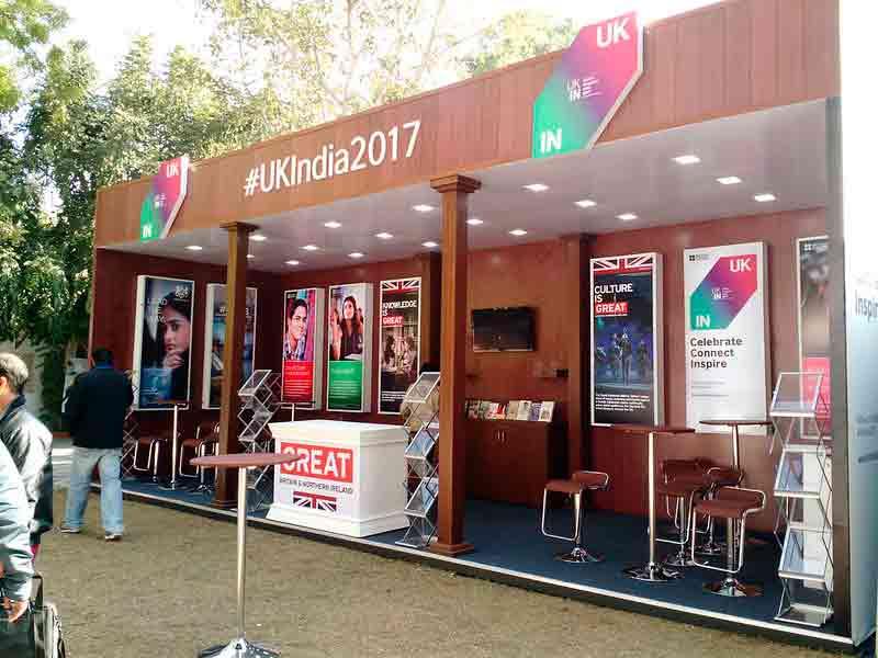 Stand en el Festival Literario de Jaipur