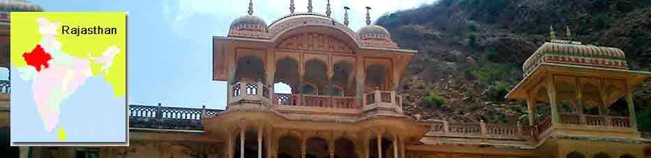 Templo Galtaji de Jaipur en Viaje por India