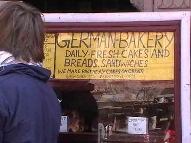 Cartel Panadería alemana en Jaisalmer