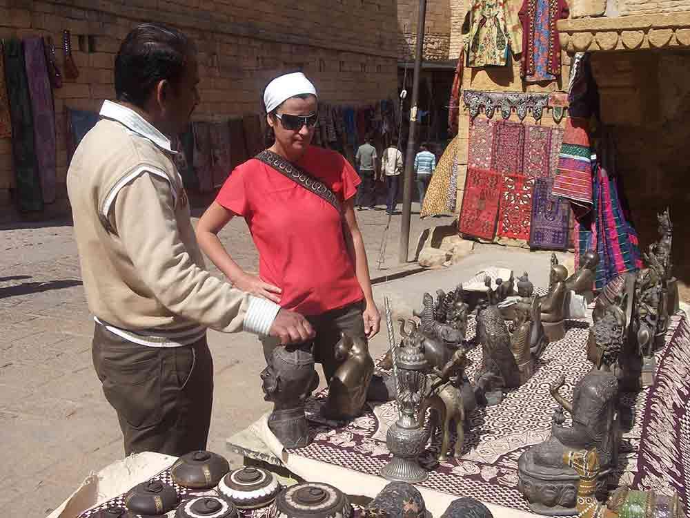 Puesto dentro del Fuerte de Jaisalmer