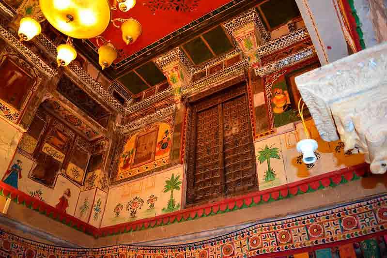 Interior de un Haveli de Jaisalmer