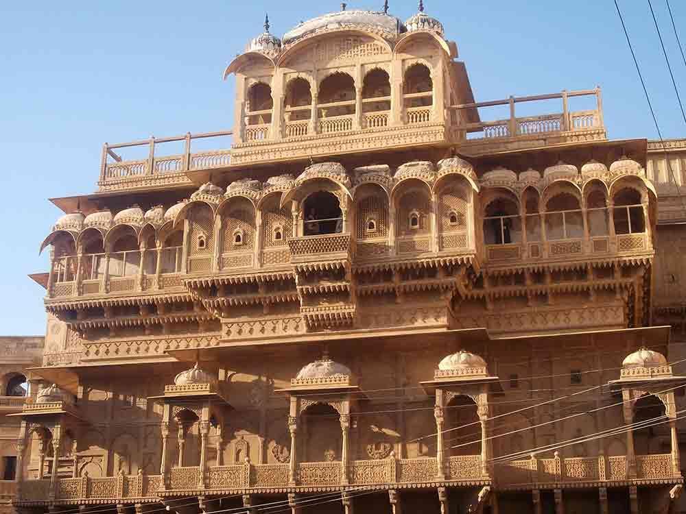Fachada de un Havelis en Jaisalmer