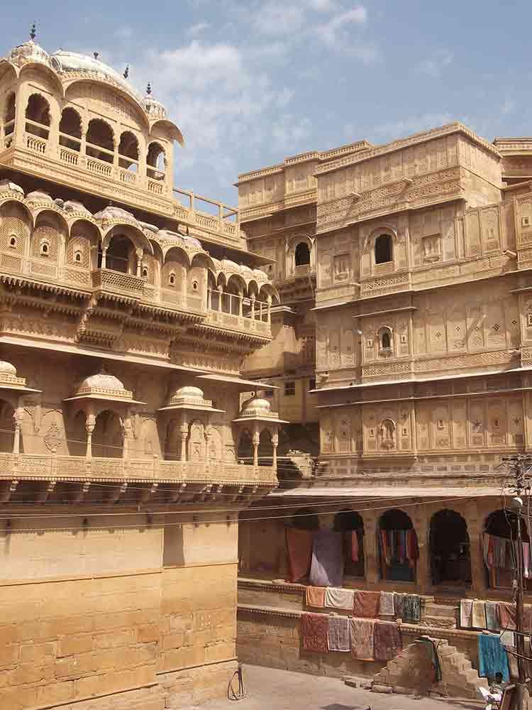 Fachadas de havelis en Jaisalmer