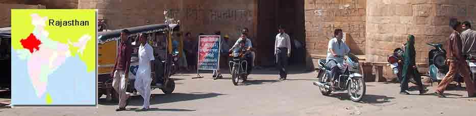 Gente en las murallas de Jaisalmer