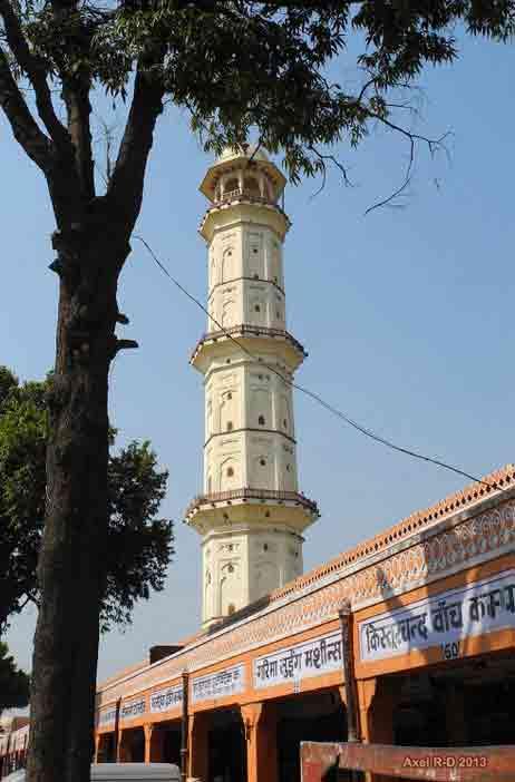 Minarete Iswari Minar de Jaipur