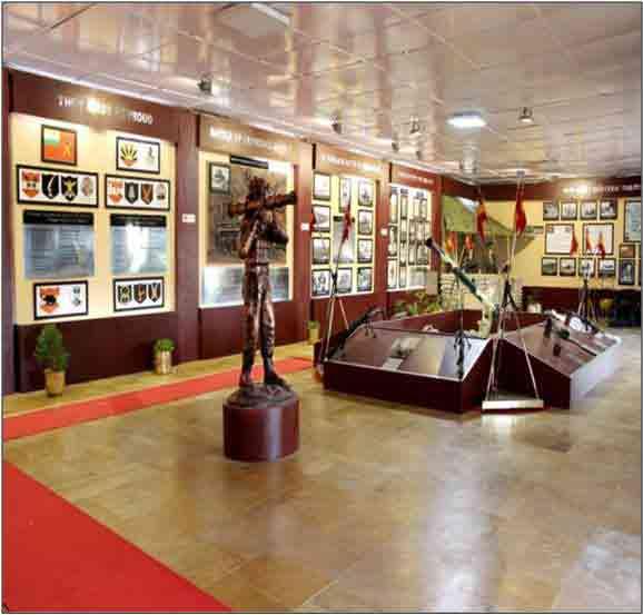 Paneles en el museo de la Guerra de Jaisalmer