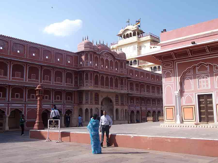 Edificios del Palacio de la Ciudad de Jaipur