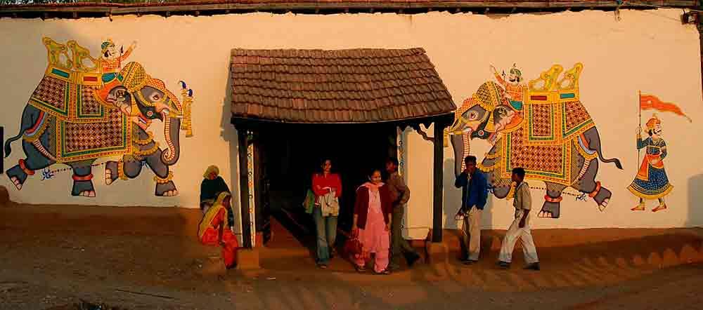 Casa tradicional en Shilpgram
