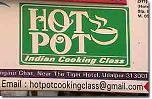 Cartel curso de cocina Udaipur