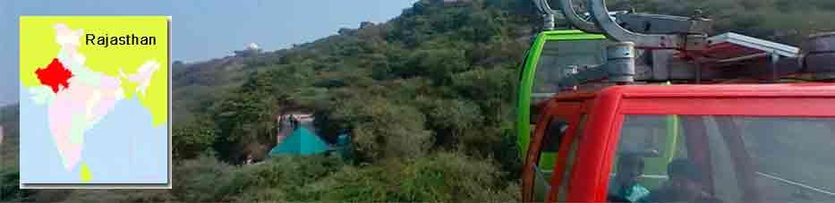 Teleférico de Udaipur en Rajastán