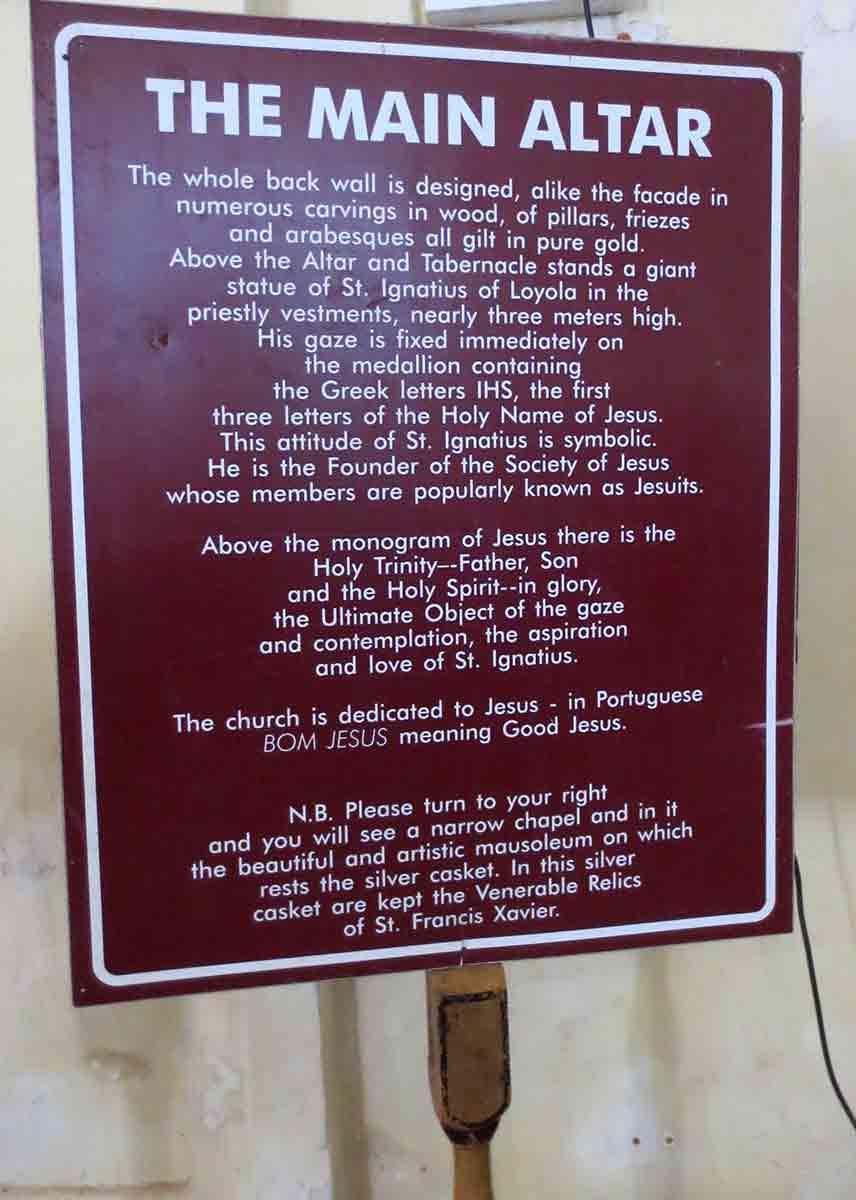 Cartel en Basílica Buen Jesús