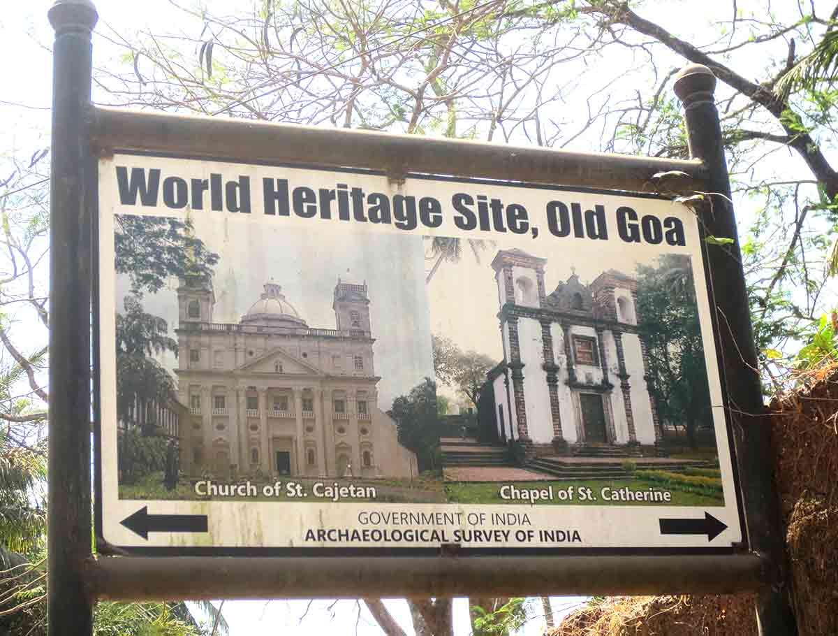 Cartel en Vieja Goa