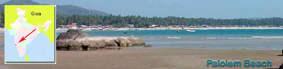 Playa Palolem en Goa