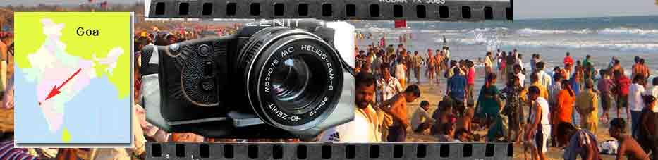 Camara de fotos y Calangute