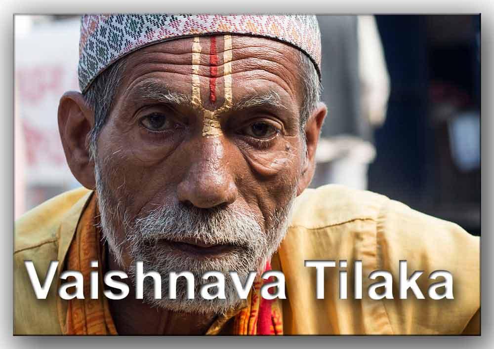 Hombre con Tilaka