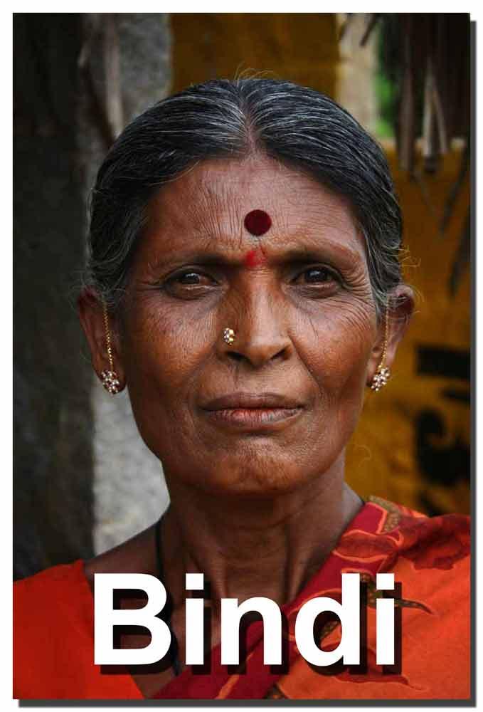 Mujer con el Bindi