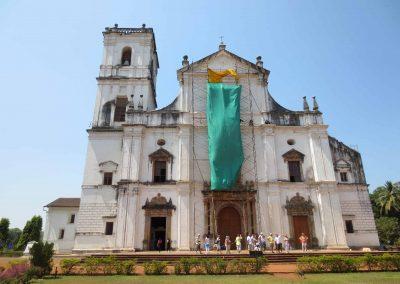 Fachada Catedral Se en Goa