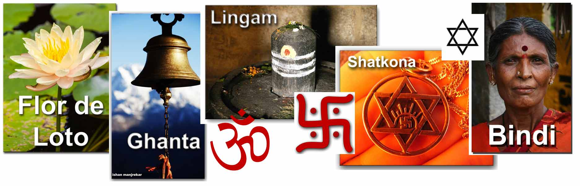 Varios símbolos hindúes