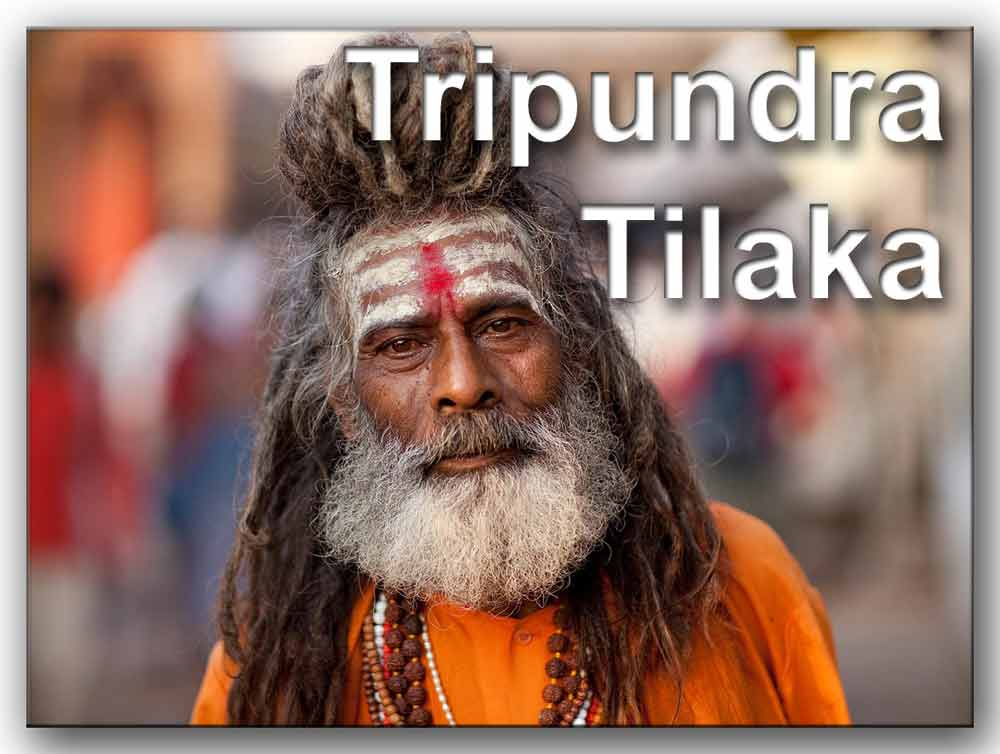 Hombre con Tripundra Tilaka