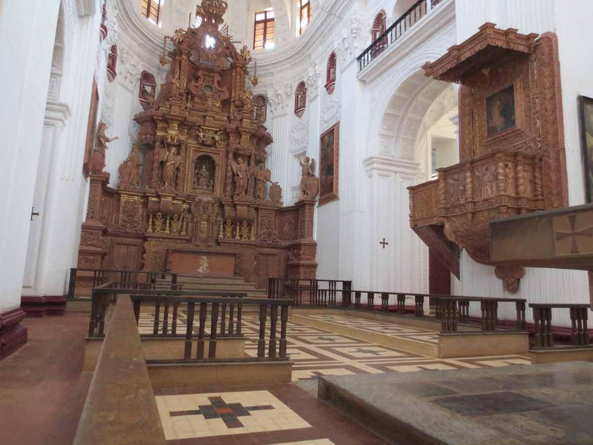 Altar en San Cayetano de Goa
