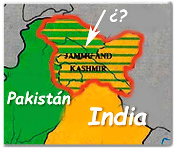 Delimitación Cachemira